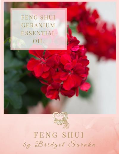 Feng Shui Geranium Essential Oil Feng Shui by Bridget
