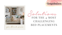 Solutions for the 4 Most Challenging Bed Placements #fengshui101