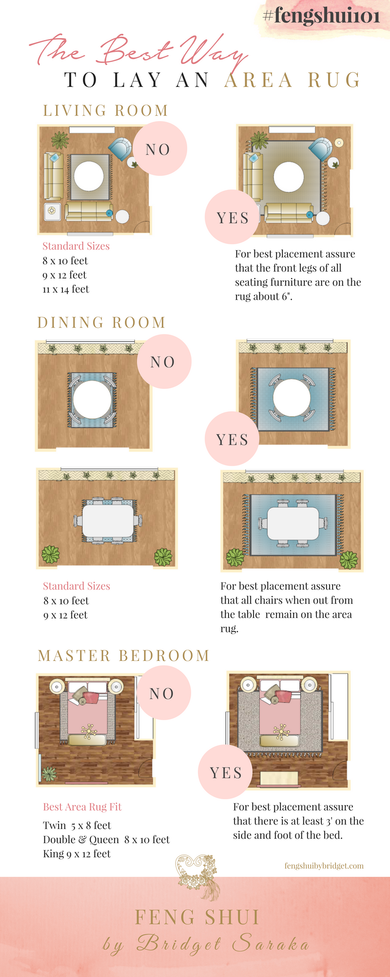 Lay an Area Rug #fengshui101