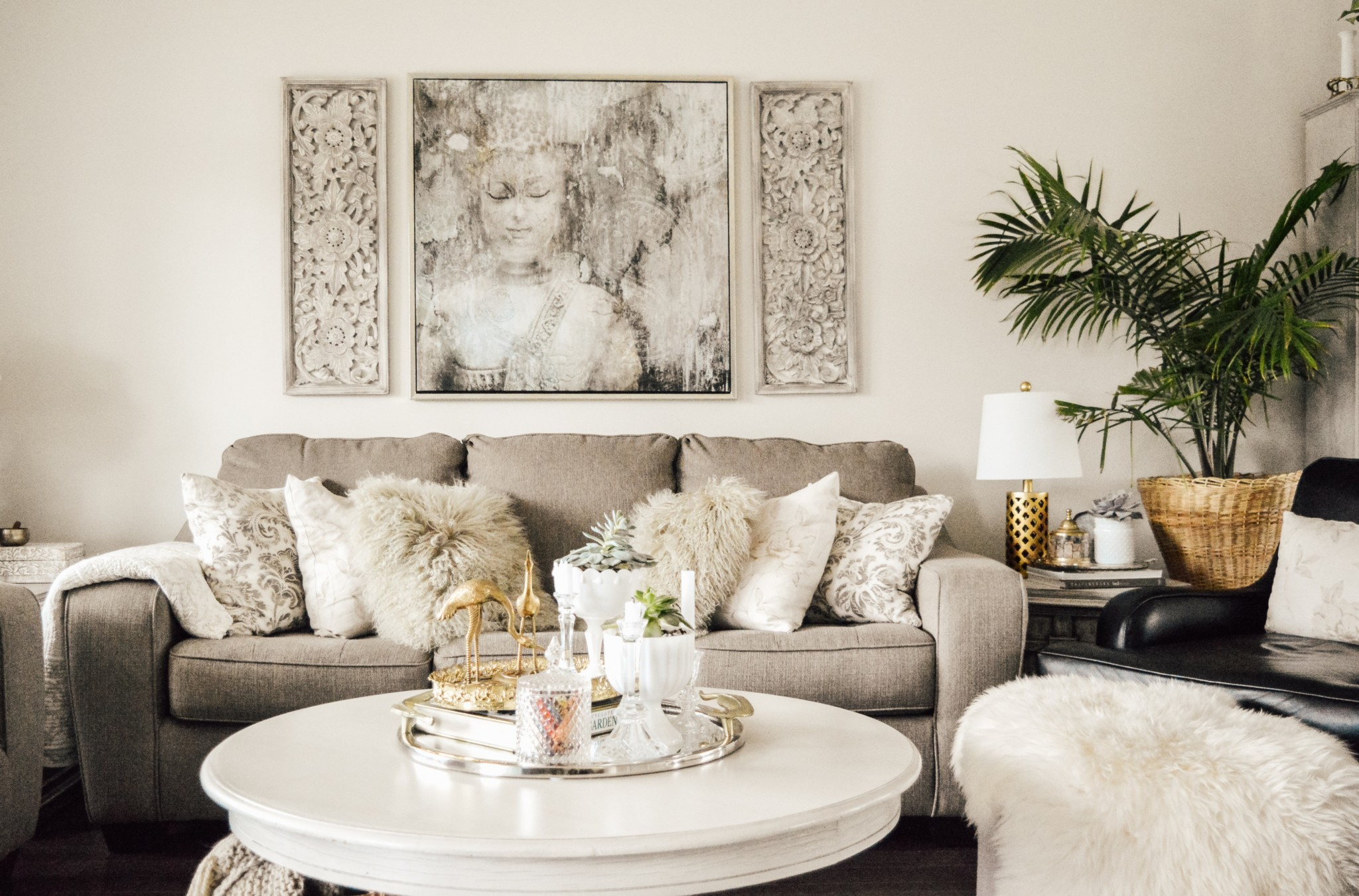 Feng Shui By Bridget Living Room Artwork Hung To Scale
