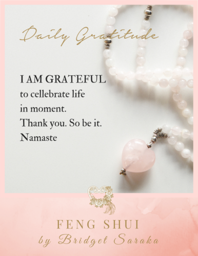 Daily Gratitude Volume #7 Feng Shui by Bridget (22a)