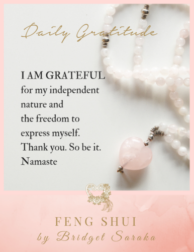 Daily Gratitude's with Feng Shui by Bridget